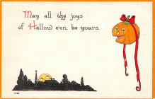 hol012263 - Halloween Post Card Old Vintage Antique