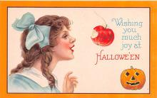 hol012269 - Halloween Post Card Old Vintage Antique