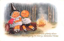 hol012275 - Halloween Post Card Old Vintage Antique