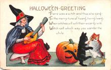 hol012277 - Halloween Post Card Old Vintage Antique