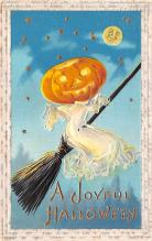 hol012283 - Halloween Post Card Old Vintage Antique