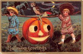 hol012305 - Halloween Post Card Old Vintage Antique