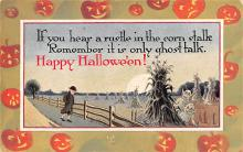 hol012313 - Halloween Post Card Old Vintage Antique