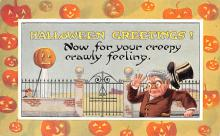 hol012317 - Halloween Post Card Old Vintage Antique