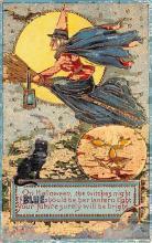 hol012331 - Halloween Post Card Old Vintage Antique