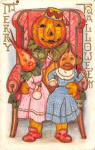 hol012337 - Halloween Post Card Old Vintage Antique
