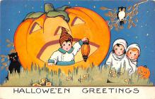 hol012341 - Halloween Post Card Old Vintage Antique