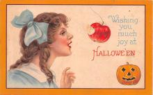 hol012345 - Halloween Post Card Old Vintage Antique