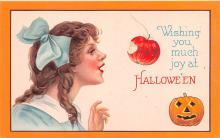 hol012347 - Halloween Post Card Old Vintage Antique