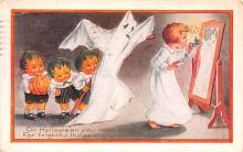 hol012351 - Halloween Post Card Old Vintage Antique