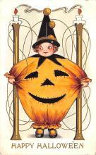 hol012353 - Halloween Post Card Old Vintage Antique