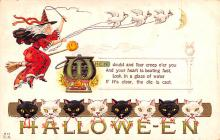 hol012361 - Halloween Post Card Old Vintage Antique