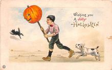 hol012363 - Halloween Post Card Old Vintage Antique