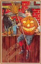 hol012365 - Halloween Post Card Old Vintage Antique