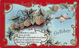 hol012369 - Halloween Post Card Old Vintage Antique