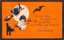 hol012379 - Halloween Post Card Old Vintage Antique