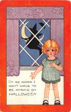 hol012383 - Halloween Post Card Old Vintage Antique