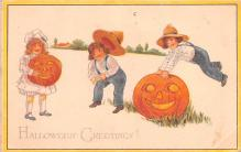 hol012385 - Halloween Post Card Old Vintage Antique