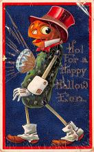 hol012395 - Halloween Post Card Old Vintage Antique