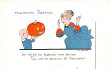 hol012407 - Halloween Post Card Old Vintage Antique