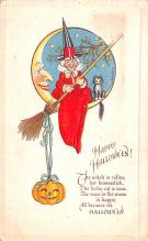 hol012411 - Halloween Post Card Old Vintage Antique