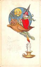 hol012413 - Halloween Post Card Old Vintage Antique