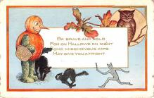 hol012415 - Halloween Post Card Old Vintage Antique