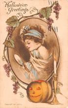 hol012417 - Halloween Post Card Old Vintage Antique