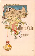 hol012423 - Halloween Post Card Old Vintage Antique