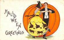hol012427 - Halloween Post Card Old Vintage Antique