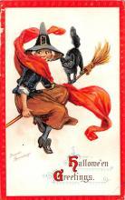 hol012435 - Halloween Post Card Old Vintage Antique