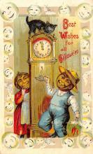hol012441 - Halloween Post Card Old Vintage Antique