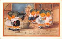 hol012443 - Halloween Post Card Old Vintage Antique