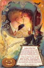 hol012447 - Halloween Post Card Old Vintage Antique