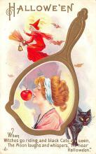 hol012449 - Halloween Post Card Old Vintage Antique