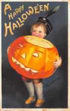 hol012455 - Halloween Post Card Old Vintage Antique