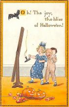 hol012461 - Halloween Post Card Old Vintage Antique