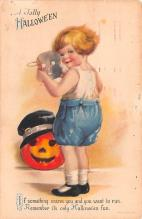 hol012465 - Halloween Post Card Old Vintage Antique