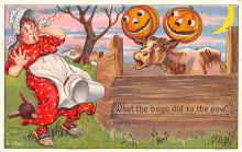 hol012467 - Halloween Post Card Old Vintage Antique