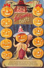 hol012471 - Halloween Post Card Old Vintage Antique
