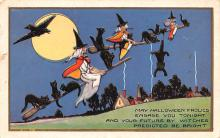 hol012473 - Halloween Post Card Old Vintage Antique