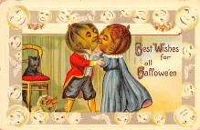 hol012479 - Halloween Post Card Old Vintage Antique