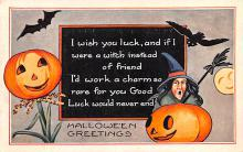 hol012481 - Halloween Post Card Old Vintage Antique