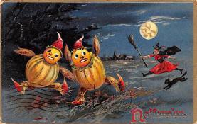 hol012485 - Halloween Post Card Old Vintage Antique