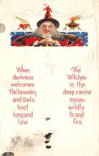 hol012491 - Halloween Post Card Old Vintage Antique