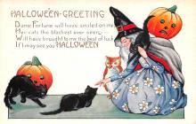 hol012501 - Halloween Post Card Old Vintage Antique