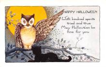 hol012517 - Halloween Post Card Old Vintage Antique
