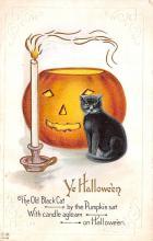 hol012521 - Halloween Post Card Old Vintage Antique
