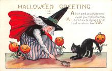 hol012523 - Halloween Post Card Old Vintage Antique