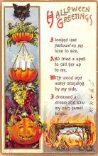 hol012529 - Halloween Post Card Old Vintage Antique